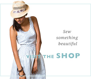Sew something beautiful, visit the pattern shop